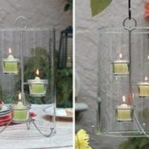 New PartyLite Seed Glass Hanging Votive Lantern